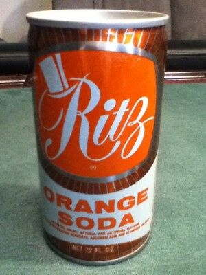 Ritz Orange Soda. Crimped steel, pull top. No bar code or ml listed.