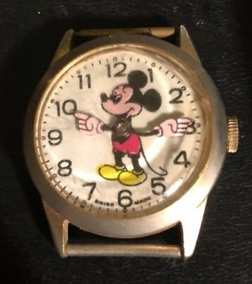 Swiss Made Mickey Mouse Watch - Unisex - Vintage Swiss Made