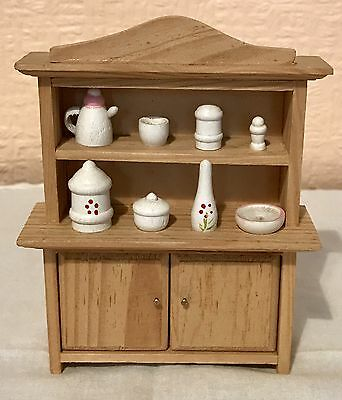 Vintage Doll House 1/12th Welsh Dresser, Artisan, Non Removable Accessories, Vgc