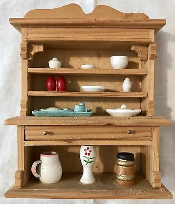 Vintage Artisan Doll House 1/12th Dresser, Non Removable Accessories Vgc