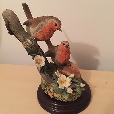 Country Artists 'pair Of Robins' Sculpture