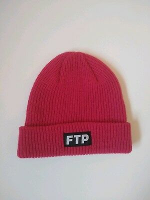 f0de57f0 BRAND NEW FTP Logo Beanie Hat Sold Out Magenta New Supreme New DS ...