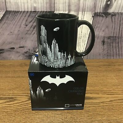 Batman Color Changing Mug Cup DC Comics Lootcrate Exclusive Loot Crate New