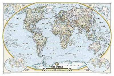 National Geographic Society 125th Anniversary World Map Tubed: Wall Maps Countri