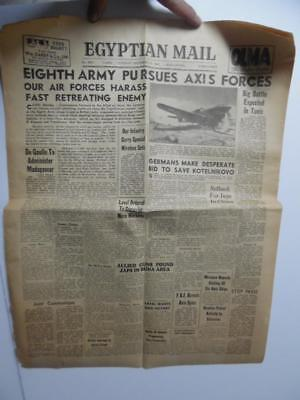1942 EGYPTIAN MAIL Newspaper WWII Cairo Egypt North African Campaign Rommel RAF