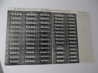 c.1940 Dr. Myerson's Teeth Dental Mould Catalog Ideal Tooth Inc. Vintage ORIG.