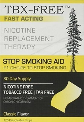 TBX FREE Stop Smoking Oral Strip Aid 120 Strips (Classic) Quit Smoking Aid