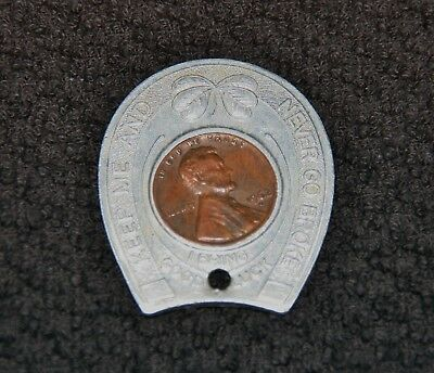 Atlantic Beach Misquamicut Westerly RI Horseshoe Never Go Broke 1962 Lucky Penny
