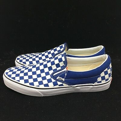 Vans CHECKERBOARD SLIP-ON BLUE Canvas Classic Shoes VN0A38F7QCN FAST SHIP 2f0a33eab