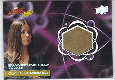 Evangeline Lilly Hope 2018 UD Ant-Man and Wasp Quantum Anomaly Relic #QM14