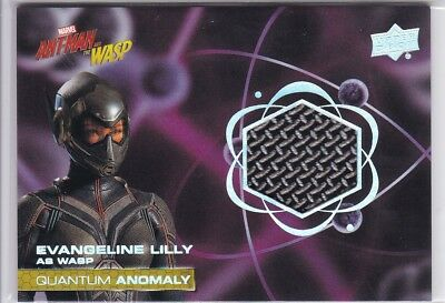 Evangeline Lilly 2018 Upper Deck Ant-Man and Wasp Quantum Anomaly Relic #QM16