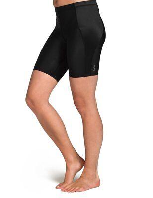 SKINS Women's A400 Compression Shorts, Black/Silver, LH