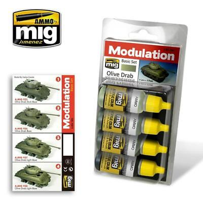AMMO by Mig Paint Sets Olive Drab Color Set MINT