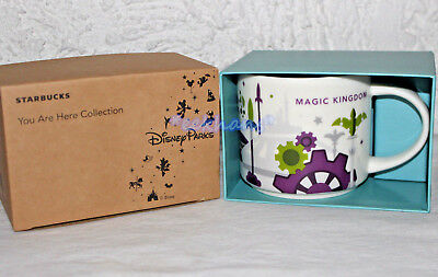NEW 2018 Starbucks Disney World Parks Magic Kingdom You Are Here Coffee Mug