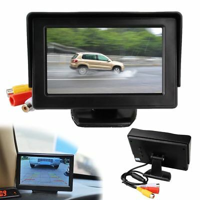 """4.3"""" TFT Color HD LCD Monitor Screen DVD VCR CCTV For Car Reverse Rear View US"""