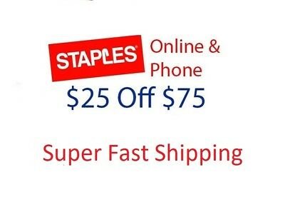 Staples $25 off $75 Online or Phone Order Expires 12/16/2018
