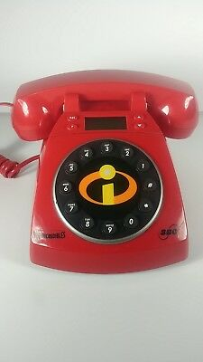 The INCREDIBLES, Disney's PIXAR, Collector's Red SBC Telephone w/Touch Dial