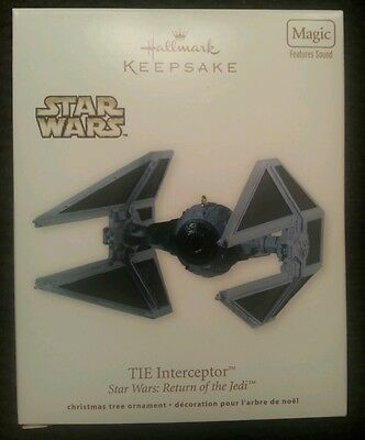 Hallmark Ornament: Star Wars Return of the Jedi - TIE INTERCEPTOR - 2012 - Magic