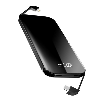 Mile Power Bank 8000mAh External Battery Portable Charger Pack with Built-in NEW