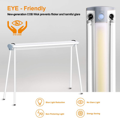 LED Desk Lamp, Eye-Care Dimmable Table with USB Charging Port, Foldable NEW US