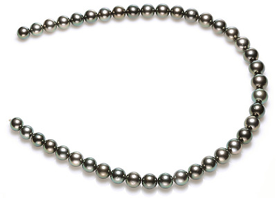 """18"""" AAA9-10mm genuine natural south sea black pearl necklace"""