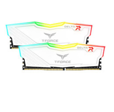 NEW Team T-Force Delta RGB 3000MHz 16GB (2x8GB) DDR4 White