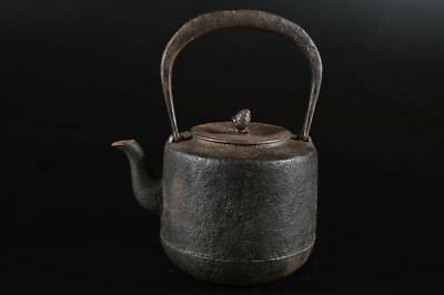 G1399: Japanese XF Old Iron Shapely TEA KETTLE Teapot Tetsubin Tea Ceremony