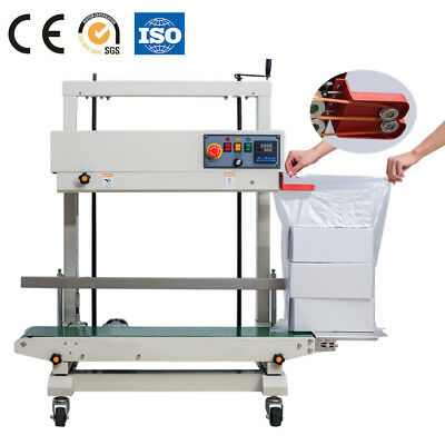 Vertical Semi-Automatic Continuous Sealing Machine Plastic Bag Sealer By Sea