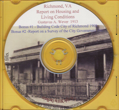 Richmond, Virginia Housing and Living Conditions 1913 - HOLIDAY SALE