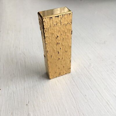 VINTAGE DUNHILL ROLLAGAS GOLD PLATE BARK FINISH LIGHTER Switzerland RE 24163