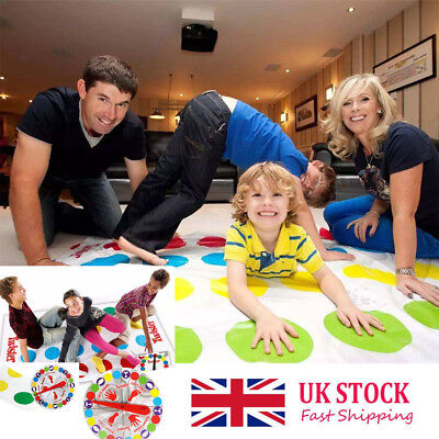 Funny-Twister The Classic Family Kids Children Xmas Party Body Game 2 More.Moves