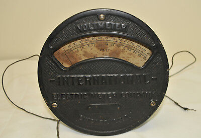 International Electric Meter Co - Chicago 1906 - Voltmeter about 7x3 inches