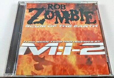 Rob Zombie Scum of the Earth Promo CD Single Mission Impossible 2 PRCD-11289-2