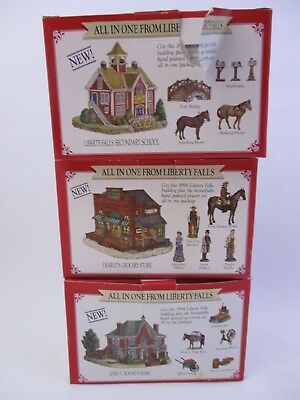 "LIBERY FALLS The America Collection- LOT OF 3 - ""ALL IN ONE"" - 3 BUILDINGS (23N)"