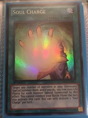 Soul Charge Super Rare DRLG-EN014 Near-MInt 1st Edition