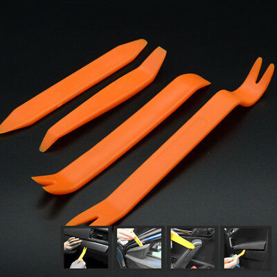 4pc Car Removal Open Tools Door Clip Kit Panel Radio Trim Dash Audio Installer