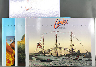 Australia 200 Years Commemorative Historical Link w/UK New Zealand & USA Stamps