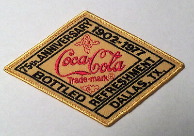 Vintage 3 - Coca-Cola 75th Anniversary Advertising Patches and Belt Buckle