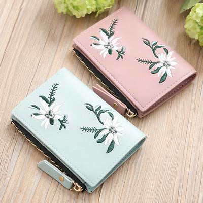 1Pc Women Coin Bag Wallet PU Simple Bifold Small Handbag Purse