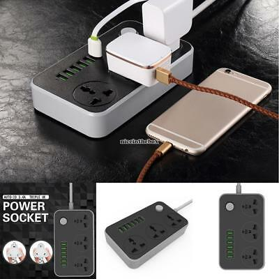 Home Multi-function USB Mobile Power Terminal Block Socket with Switch N98B