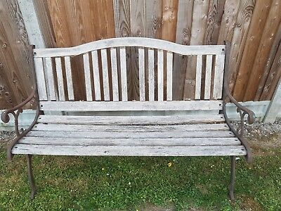 Garden Bench With Cast Iron Sides/legs