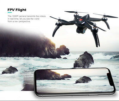 MJX Bugs 5W Elicottero 1080P Camera 5G Wifi GPS RC Drone Quadcopter 2 Batterie