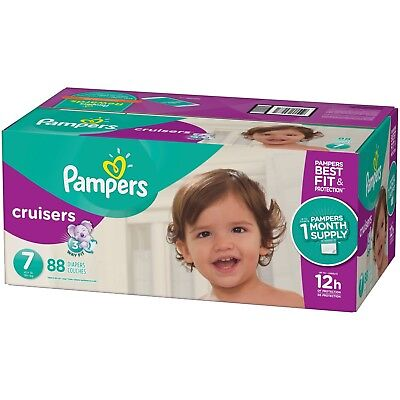 Pampers Cruisers Disposable Diapers Size 7, 88 Count - FREE SHIPPING
