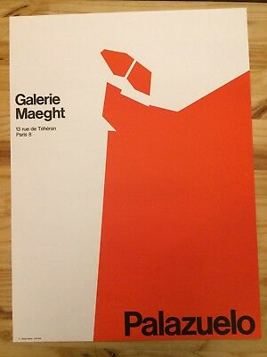 Affiche lithographique Palazuelo Galerie Maeght expo 1970