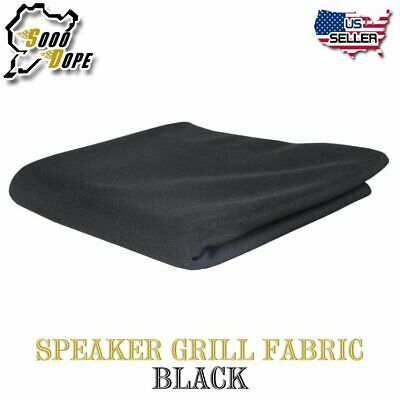 Speaker Audio Stereo Mesh Fabric Grille Cloth Subwoofer Repair 55Inch Wide Black