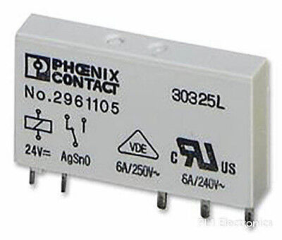( Pack 20 ) Phoenix Contact   2961105   Relay, 24Vdc, 6A, Spdt, Socket Mount