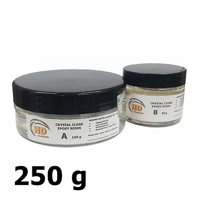 Low Viscosity Ultra-Clear Epoxy Resin 250g [UV Resistant] 40mm ONE LAYER