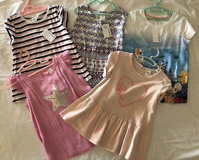 Bulk Lot Girls Size 6, 5 T-shirt Tops Brand New With Tags