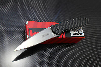 NEW KERSHAW USA Carbon Fiber LEEK CPM-154 Spring Assisted SPEEDSAFE Knife 1660CF