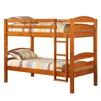 Walker Edison Furniture Co. Honey Twin Solid Wood Bunk Bed - BWSTOTHY